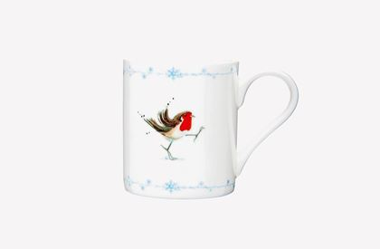 Jane Abbott Winter Robin Mug