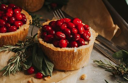 Pork Pie with Cranberry Topping