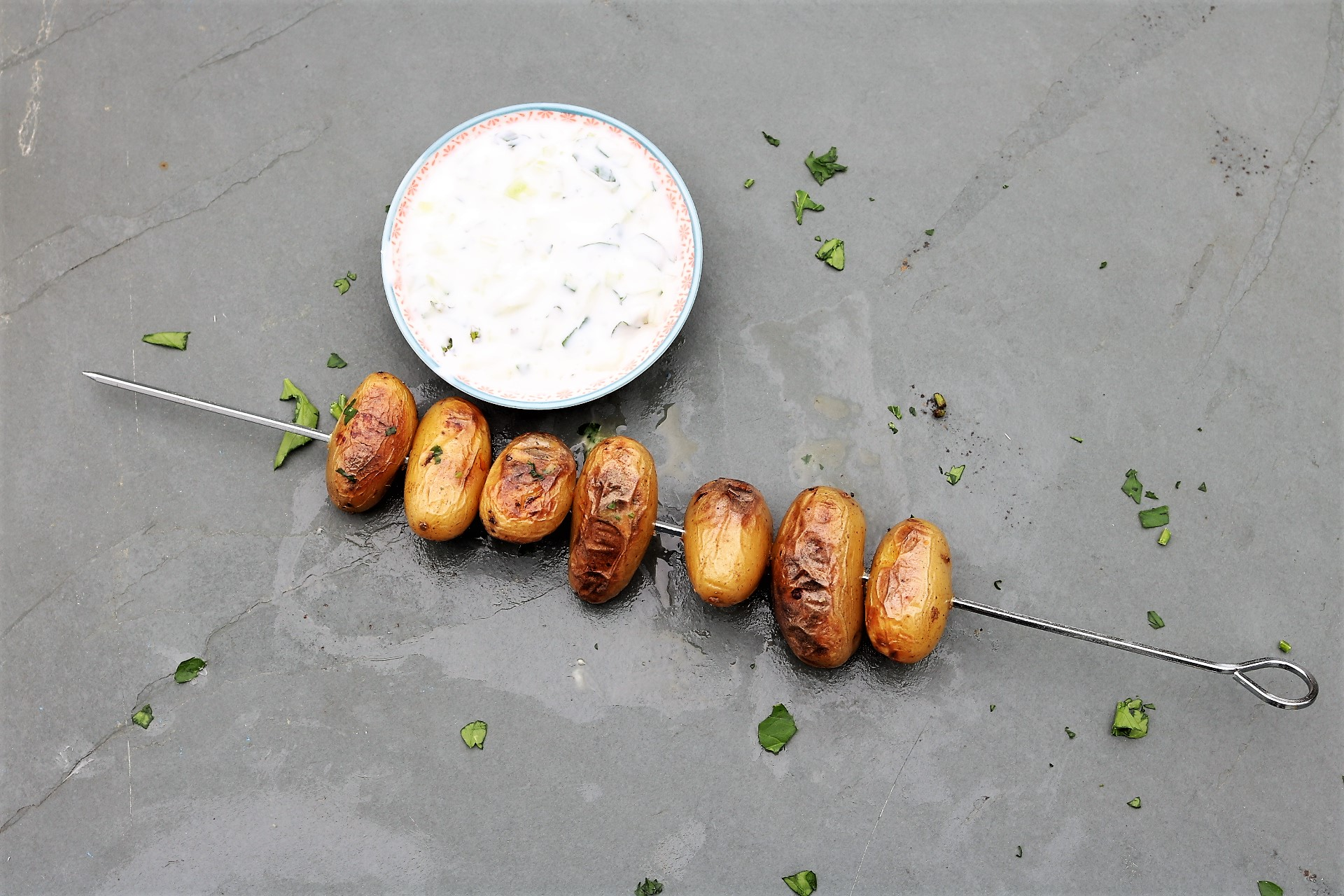 New Potato Skewers