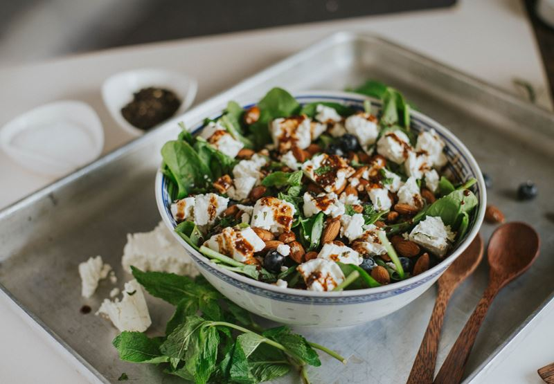 Blueberry & Feta Salad Recipe