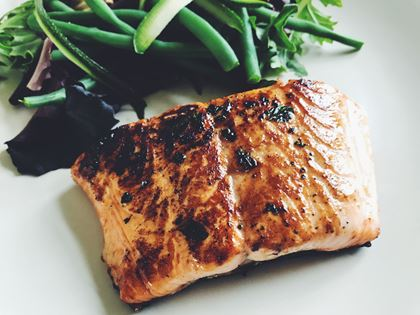 Salmon Fillets in a Honey Marinade image