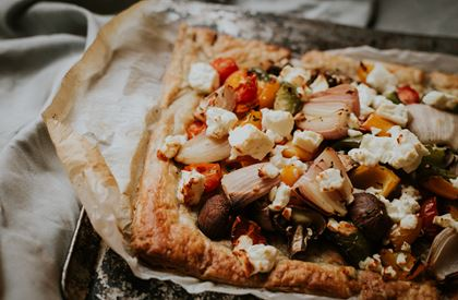 Puff Pastry Tart with Vegetables & Feta