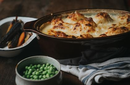 Cauliflower Cheese with Hawkridge Cheddar