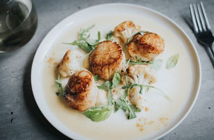Michael Caines' Pan-fried Scallops Recipe
