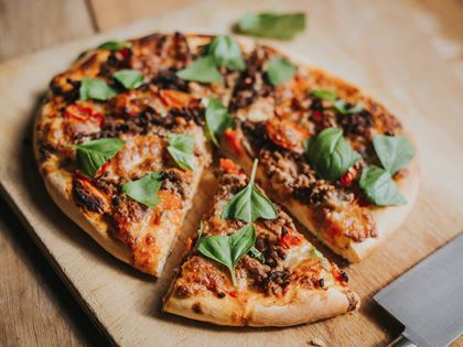 Greendale Beef and Basil Pizza Recipe image