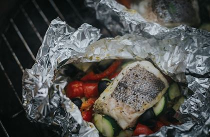Barbecued Hake Pesto Parcels Recipe