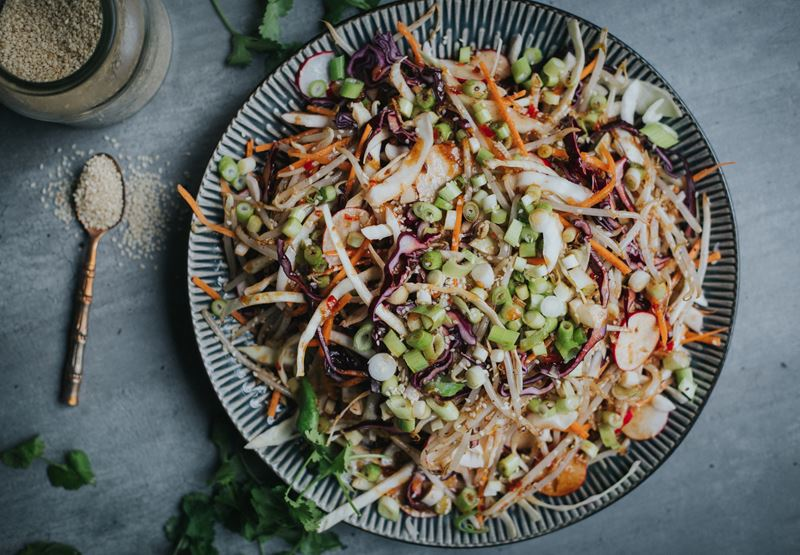 Super Slaw with Spicy Dressing Recipe