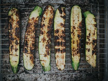 Barbecued Courgettes image