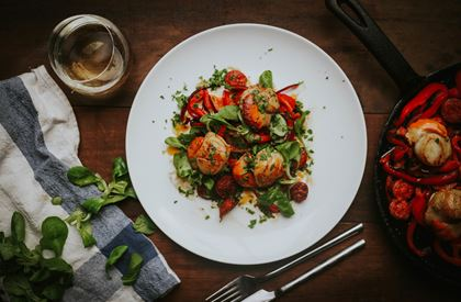 Greendale Scallops with Chorizo Recipe