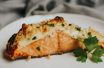 Baked Salmon Fillets with Lemon & Parmesan