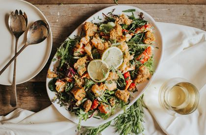 Lobster Sourdough Salad Recipe