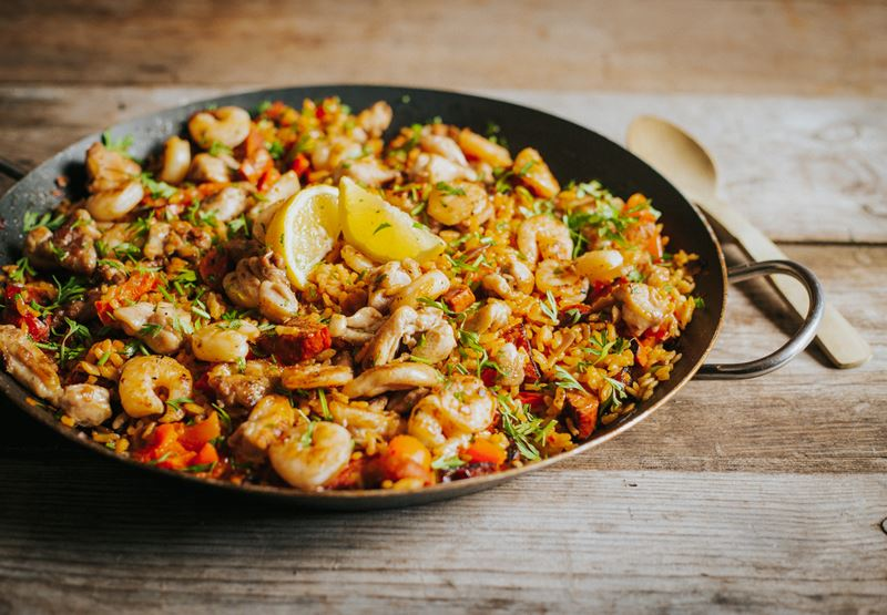 BBQ Chicken Paella Recipe