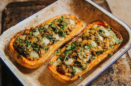 Lentil & Sharpham Stuffed Squash Recipe
